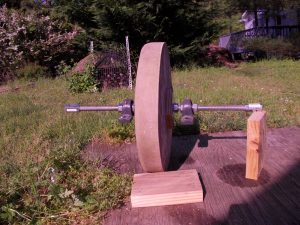 Treadle Grindstone With Bearings